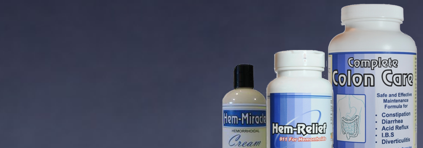 Western Herbal and Nutrition offers several natural hemorrhoid treatment options. Their natural remedies for hemorrhoids include Hem-Relief, Hem-Miracle Cream, a Colon Care Combo.